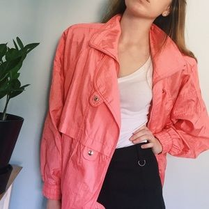 Vintage Bright Pink 80s Windbreaker